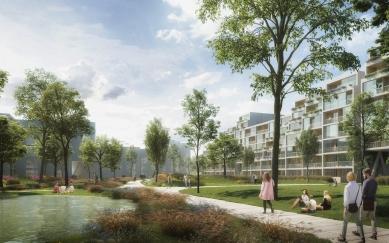 Residence Nádraží Žižkov - Centrální park - foto: RA15/Benthem Crouwel Architects