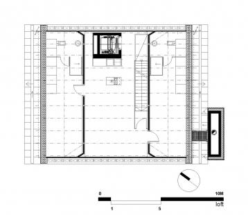 Vila Špindlerův Mlýn  - Půdorys loftu - foto: ra15