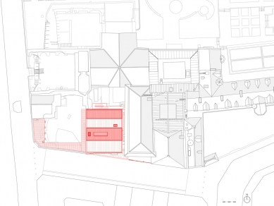 Extension of the Cluny Museum - Situace - foto: Bernard Desmoulin Architecte