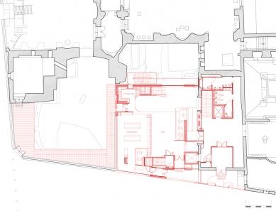 Extension of the Cluny Museum - Půdorys vstupního podlaží - foto: Bernard Desmoulin Architecte
