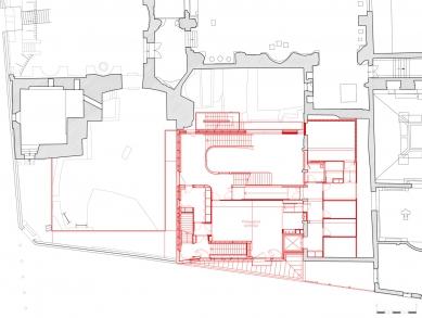 Extension of the Cluny Museum - Půdorys patra - foto: Bernard Desmoulin Architecte