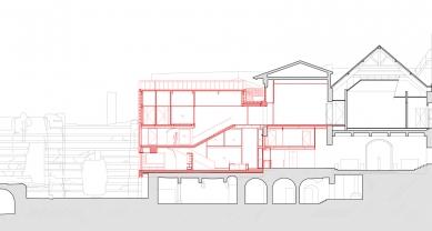 Extension of the Cluny Museum - Řez - foto: Bernard Desmoulin Architecte