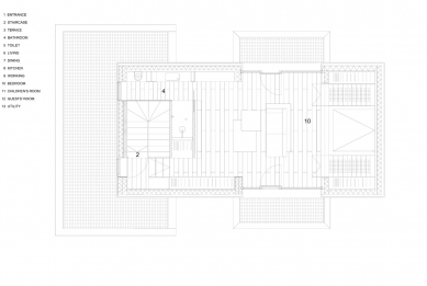 Villa 3 Shoebox - Půdorys 3.np - foto: OFIS arhitekti