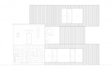 Villa 3 Shoebox - Východní pohled - foto: OFIS arhitekti
