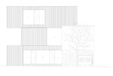 Villa 3 Shoebox - Západní pohled - foto: OFIS arhitekti