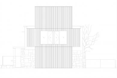 Villa 3 Shoebox - Severní pohled - foto: OFIS arhitekti