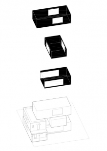 Villa 3 Shoebox - Rozložená axonometrie - foto: OFIS arhitekti