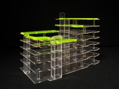Terasy paláce Lucerna - Model - foto: Petr Hájek ARCHITEKTI, s.r.o.