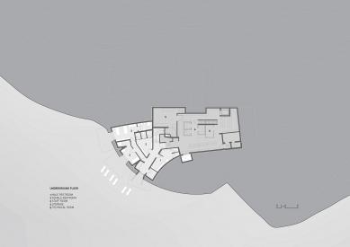 Horská chata Oberholz - Půdorys suterénu - foto: Peter Pichler Architecture