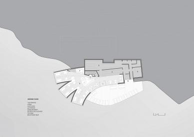 Horská chata Oberholz - Půdorys přízemí - foto: Peter Pichler Architecture