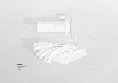 Horská chata Oberholz - Výkres střechy - foto: Peter Pichler Architecture