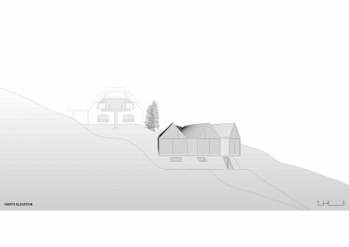 Horská chata Oberholz - Severní pohled - foto: Peter Pichler Architecture