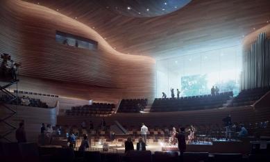 Koncertní hala v Ostravě - foto: Henning Larsen Architects
