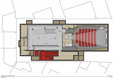 Sídlo nadace Jérôme Seydoux-Pathé - Level -1 - foto: Renzo Piano Building Workshop