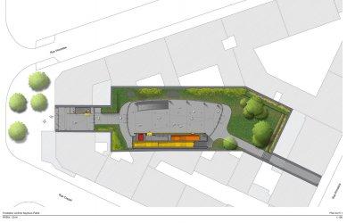 Sídlo nadace Jérôme Seydoux-Pathé - Level 1 - foto: Renzo Piano Building Workshop