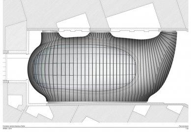 Sídlo nadace Jérôme Seydoux-Pathé - Výkres střechy - foto: Renzo Piano Building Workshop