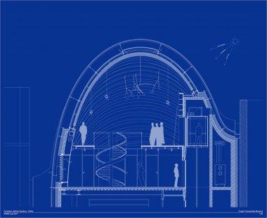 Sídlo nadace Jérôme Seydoux-Pathé - Řez střechou - foto: Renzo Piano Building Workshop