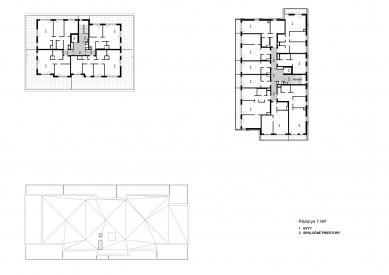 Obytný súbor Ahoj park - Půdorys 7.np - foto: Compass Architekti