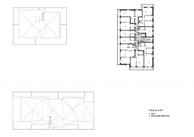 Obytný súbor Ahoj park - Půdorys 8.np - foto: Compass Architekti