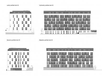 Obytný súbor Ahoj park - Pohledy domu B - foto: Compass Architekti
