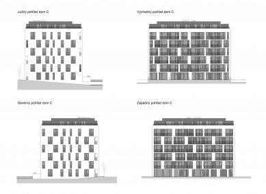 Obytný súbor Ahoj park - Pohledy domu C - foto: Compass Architekti