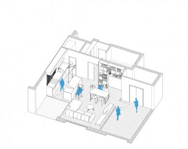 Byt cestovateľa - Axonometrické schéma bytu - foto: Šercel Švec