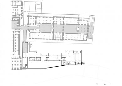 James Simon Gallery - Půdorys suterénu - foto: David Chipperfield Architects Berlin