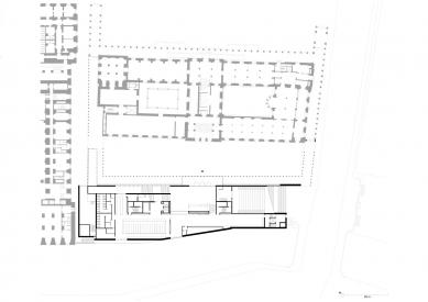 James Simon Gallery - Půdorys přízemí - foto: David Chipperfield Architects Berlin
