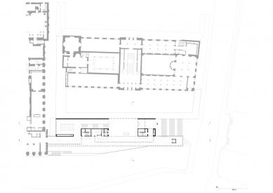 James Simon Gallery - Půdorys patra - foto: David Chipperfield Architects Berlin