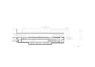 James Simon Gallery - Podélný řez - foto: David Chipperfield Architects Berlin