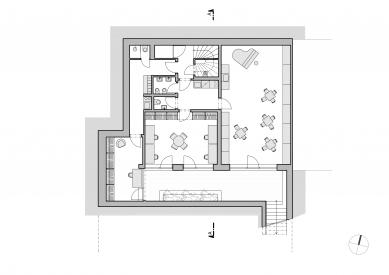 Bytový dům Bořanovická - Půdorys 1.pp - foto: SENAA architekti