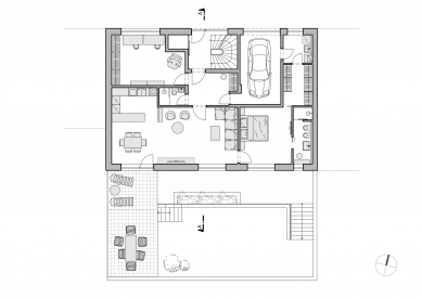 Bytový dům Bořanovická - Půdorys 1.np - foto: SENAA architekti
