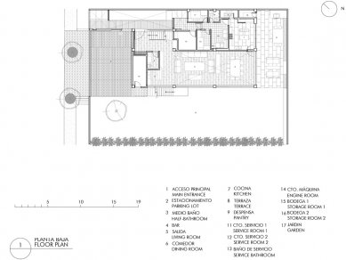 Casa 3:2 - Půdorys 1NP