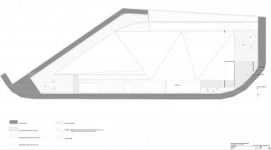 112 Emergency Service Extremadura Office - Výkres střechy - foto: Daniel Jiménez + Jaime Olivera arquitectos