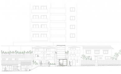 Love2 House - Čelní pohled - foto: Takeshi Hosaka Architects