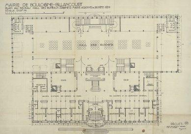 Radnice vBoulogne-Billancourt - Půdorys přízemí