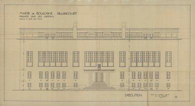 Radnice vBoulogne-Billancourt - Čelní pohled