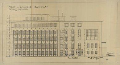 Radnice vBoulogne-Billancourt - Boční pohled