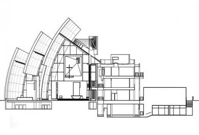 Chrám Church of the Jubilee - Řez - foto: © Richard Meier & Partners Architects LLP