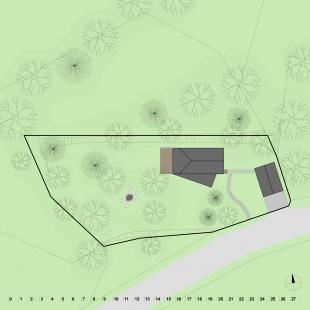 Dům na okraji CHKO Jizerské hory - Situace