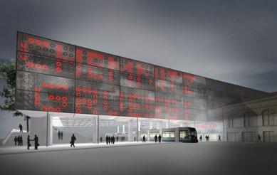 Přestavba hlavního nádraží v Saské Kamenici - Vizualizace - foto: Grüntuch Ernst Architekten