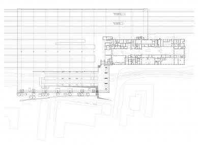 Přestavba hlavního nádraží v Saské Kamenici - Půdorys - foto: Grüntuch Ernst Architekten