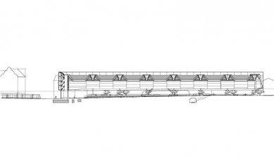 Přestavba hlavního nádraží v Saské Kamenici - Řez - foto: Grüntuch Ernst Architekten