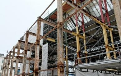 Přestavba hlavního nádraží v Saské Kamenici - Fotografie z průběhu rekonstrukce