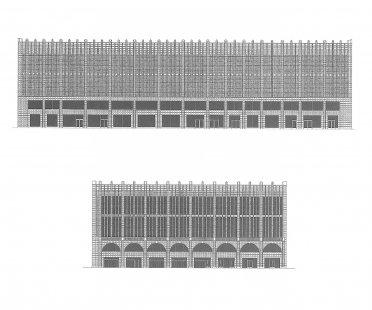 Návrh fasády obchodního domu Roter Turm - Fasády - foto: Architekten Kollhoff und Timmermann