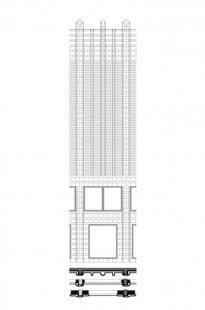 Návrh fasády obchodního domu Roter Turm - Detail fasády - foto: Architekten Kollhoff und Timmermann