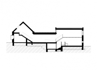 Rodinný dům Rousínov - Řez - foto: studio NEW WORK