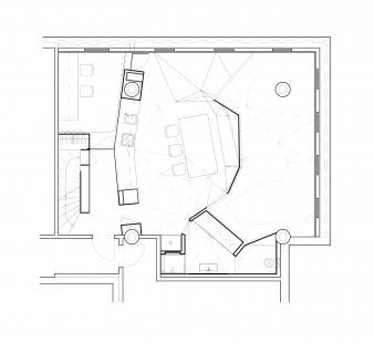 Loft 32 Zlín - Půdorys dolní úroveň