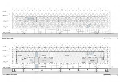 Chile Pavilion at Expo Milan 2015 - Podélný řez a pohled - foto: Undurraga Deves Arquitectos