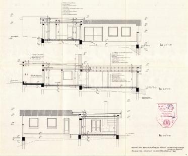Rodinný dům architektky Růženy Žertové - Řezy